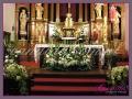 dekoracja komunijna kościoła