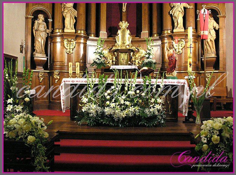 dekoracja komunijna kościoła 40