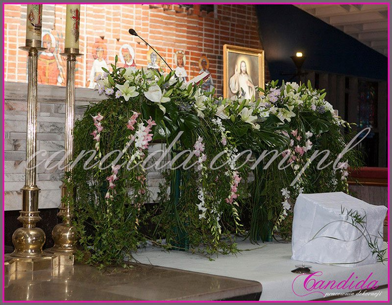 dekoracja komunijna kościoła 32
