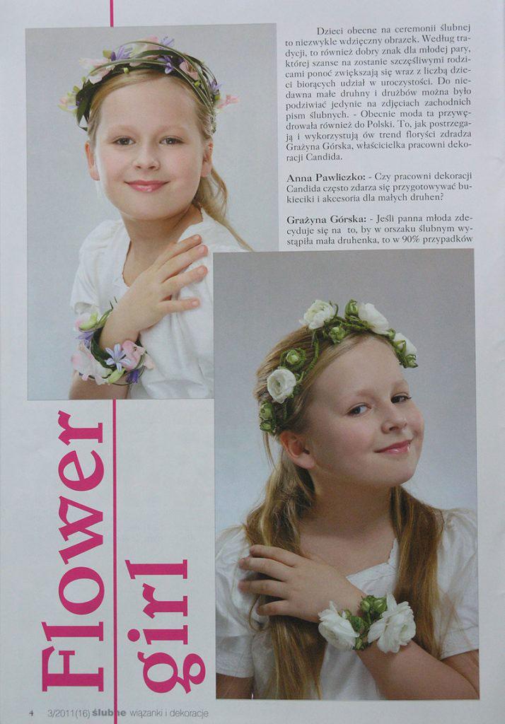 dekoracje komunijne w magazynie Ślub wydanie specjalne 2011/3 2