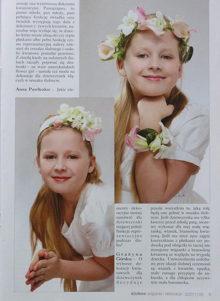 dekoracje komunijne w magazynie Ślub wydanie specjalne 2011/3 3