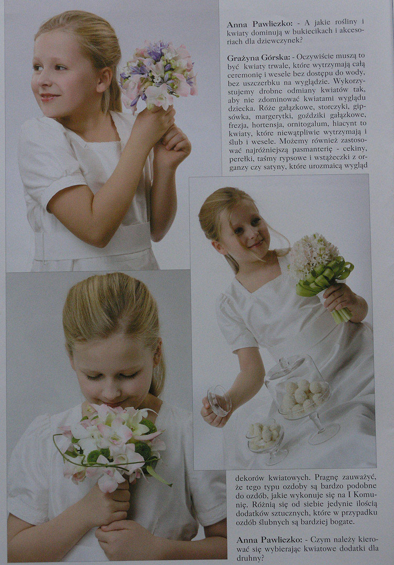 dekoracje komunijne w magazynie Ślub wydanie specjalne 2011/3 4