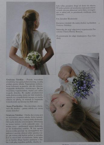 dekoracje komunijne w magazynie Ślub wydanie specjalne 2011/3 5